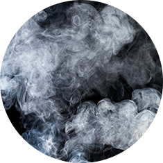 White smoke on a dark background