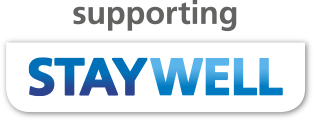 Supporting NHS Staywell Logo